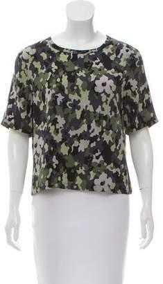 Equipment Silk Camouflage Print Top