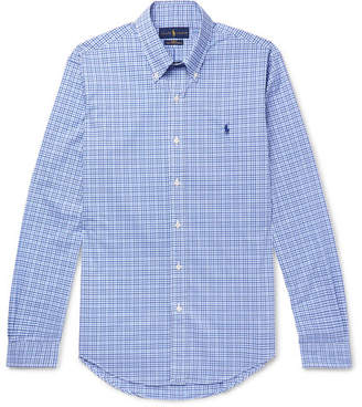 Polo Ralph Lauren Slim-Fit Button Down-Collar Gingham Cotton-Poplin Shirt