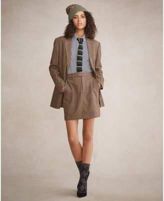 Polo Ralph Lauren Houndstooth Tweed Miniskirt