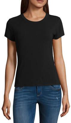 Arizona Short Sleeve Crew Neck Graphic T-Shirt-Juniors