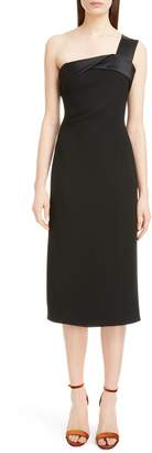 Victoria Beckham Satin Strap One-Shoulder Dress