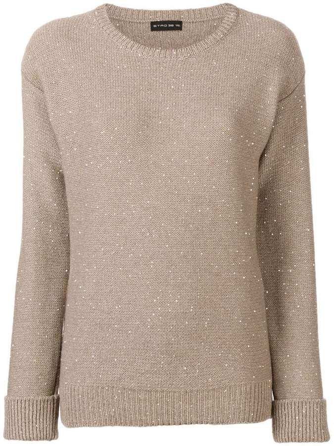Etro crewneck sequin detail sweater