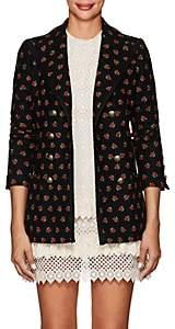 Philosophy di Lorenzo Serafini Women's Embroidered Wool-Blend Double-Breasted Blazer - Black