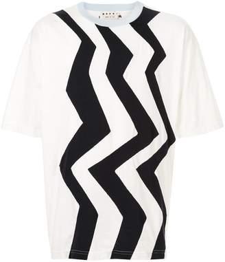 Marni zigzag print T-shirt