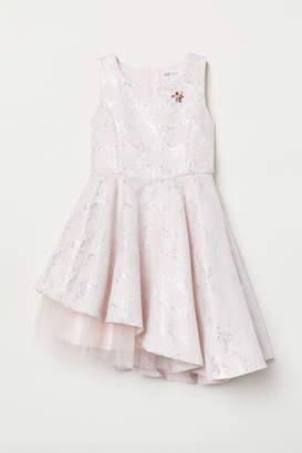 H&M Jacquard-weave Dress - Pink