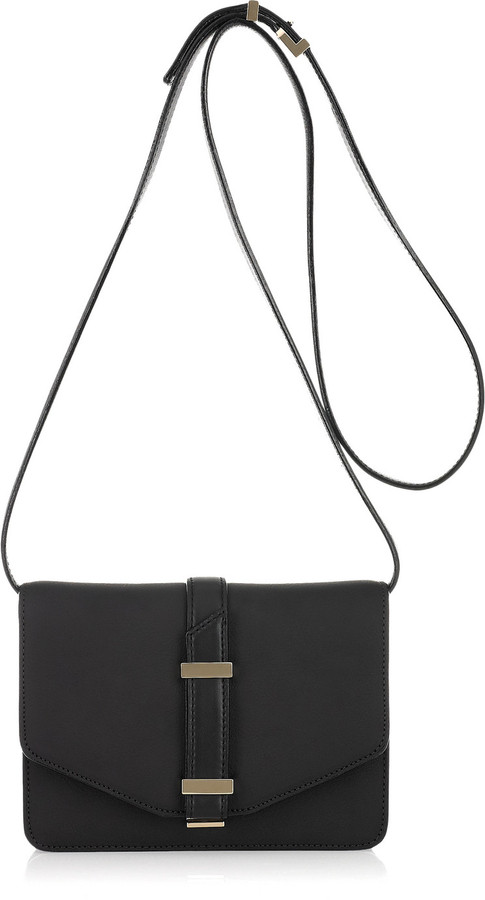 Victoria Beckham Mini Satchel textured-leather shoulder bag