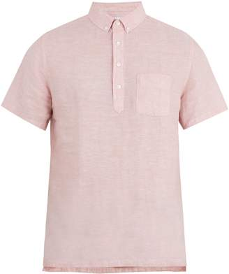 Onia Josh short-sleeved linen polo shirt