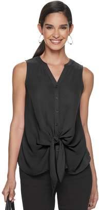 33e1401b5fde81 Apt. 9 Women's Tie-Front Sleeveless Blouse