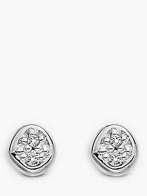 Hot Diamonds Diamond Stud Earrings, Silver