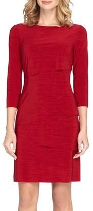 Women's Tahari Ruffle Jersey Sheath Dress $124 thestylecure.com