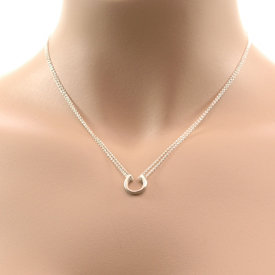 Adina Reyter TINY HORSESHOE NECKLACE, STERLING SILVER