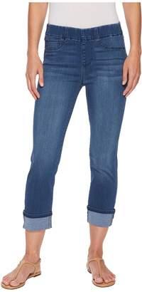 Liverpool Chloe Cuffed Pull-On Capris in Silky Soft Denim in Harlow Women's Jeans
