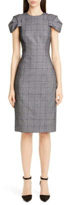 Jason Wu Collection Lace Overlay Glen Plaid Sheath Dress