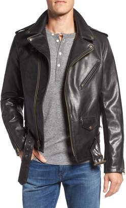 Schott NYC Waxy Leather Moto Jacket