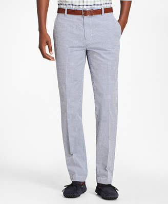 Brooks Brothers Milano Fit Gingham Seersucker Pants
