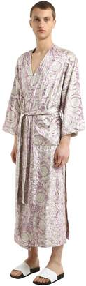 Versace Bavelet Long Satin Robe