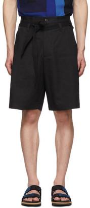 Dries Van Noten Black Linen Panko Shorts