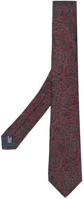 Lanvin pointed paisley tie