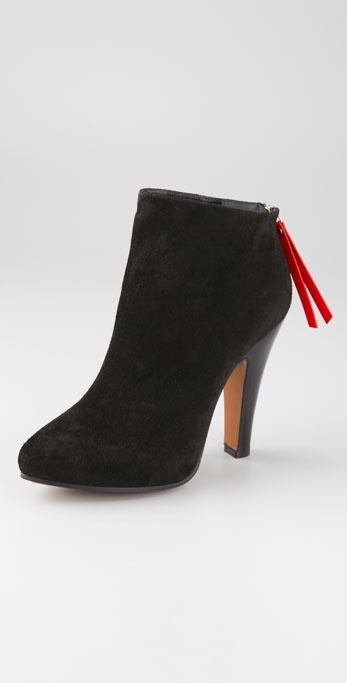 Moschino Cheap And Chic High Heel Platform Suede Booties