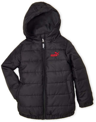 Puma Toddler Boys) Navy Hooded Puffer Jacket