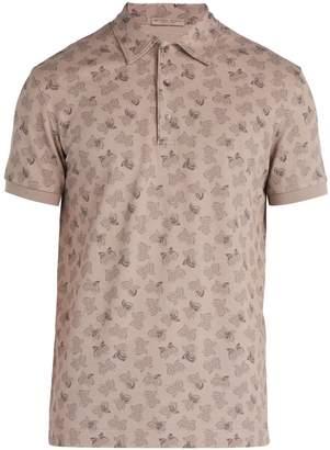 Bottega Veneta Butterfly-print cotton-piqué polo shirt