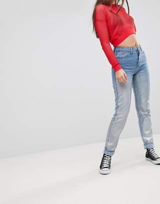 Glamorous Metallic Boyfriend Jeans