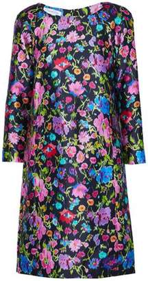 Oscar de la Renta Floral-Print Silk And Cotton-Blend Faille Dress