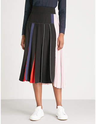Sportmax Serra pleated crepe midi skirt