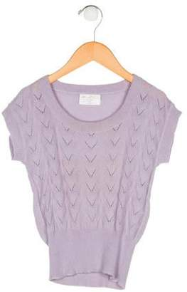 Flora and Henri Girls' Cashmere Knit Top