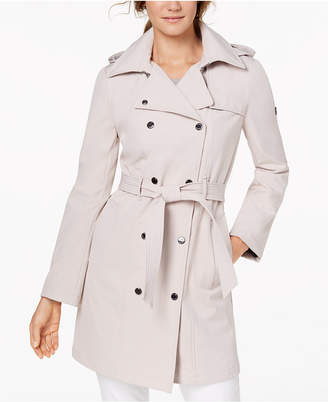Calvin Klein Petite Belted Softshell Trench Coat