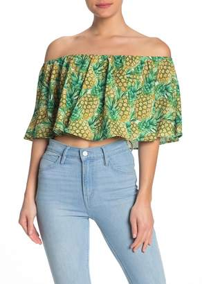Show Me Your Mumu Heidi Ruffle Print Crop Top