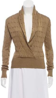 Ralph Lauren Cable Knit Silk Sweater
