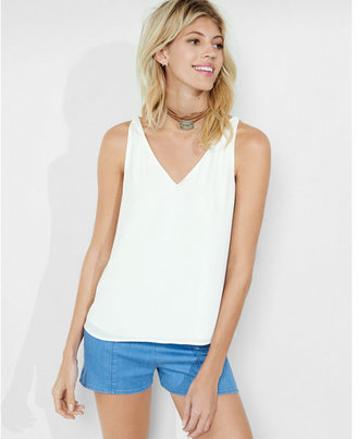 Express strappy back v-neck tank $39.90 thestylecure.com