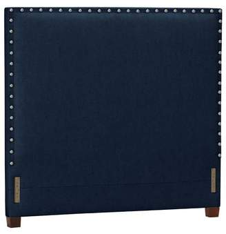 Pottery Barn Teen Raleigh Teen Square Nailhead Headboard, Queen, Velvet, Navy