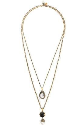 Alexander McQueen double chain drop necklace