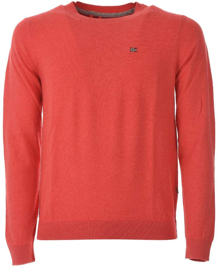 Napapijri Red Coral Decatur Crew Neck Sweater