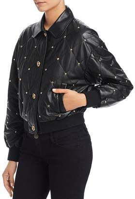 Escada Sport Lapearl Quilted Leather Jacket