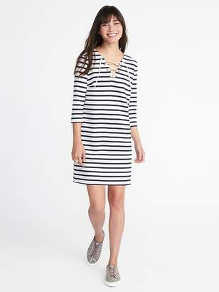 Old Navy Lace-Up-Yoke Shift Dress for Women