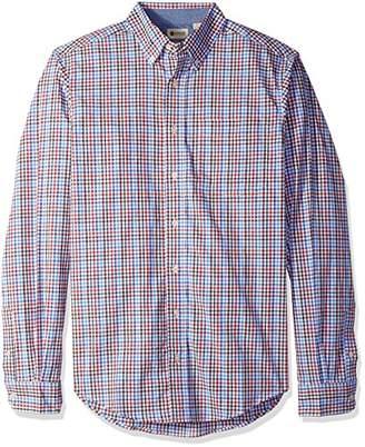 Haggar Men's Big and Tall Long Sleeve Poplin Shirt With Stretch