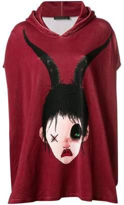 Barbara Bologna 'Morbid' graphic print hooded T-shirt