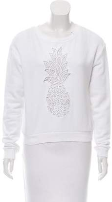 Chloé White Wardrobe Embroidered Pineapple Sweatshirt
