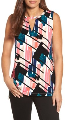 Women's Chaus Abstract Exhibit Keyhole Top $59 thestylecure.com