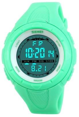 OWIKAR Women's Multifunction Fashion Digital LED Casual Quartz Sport Wrist Watch Electronic 50M Water Resistant