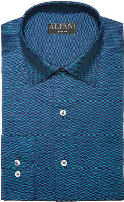 Alfani AlfaTech by Men's Classic/Regular Fit Lattice Diamond Dress Shirt, Created for Macy's