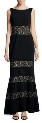 Vince Camuto Sleeveless Lace-Embroidered Gown