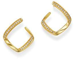 Bloomingdale's Diamond Twisted Front-to-Back Earrings in 14K Yellow Gold, 0.25 ct. t.w. - 100% Exclusive