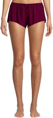 Xirena Shaya Cotton Lounge Shorts, Maroon