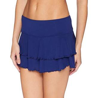 Body Glove Women's Smoothies Lambada Solid Mesh Cover Up Skirt Swimsuit