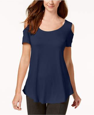 JM Collection Cold-Shoulder Swing T-Shirt