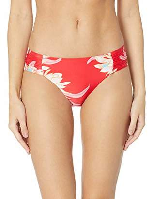 Seafolly Women's Ruched Side Retro Medium Coverage Bikini Bottom Swimsuit
